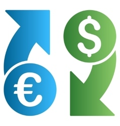 Dollar Euro Exchange Gradient Icon vector image