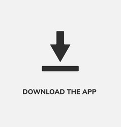 download button icon download app symbol vector image