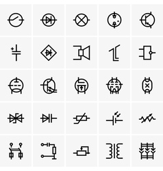 Electronic components icons vector image