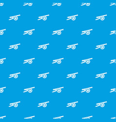 Enemy cannon pattern seamless blue vector