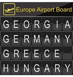 Europe airport digital boarding vector image