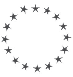 european union black icon vector image