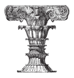 Finial of the choragic monument of lysicrates vector