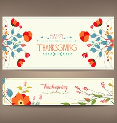 Floral background thanksgiving greeting card vector