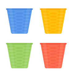 flower pots icon isolated vector image