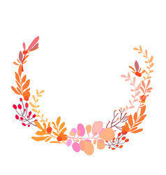 Foral flowers wreath vector