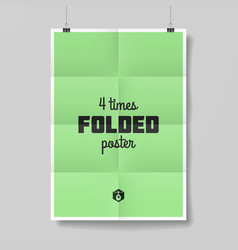 Four times folded poster vector image