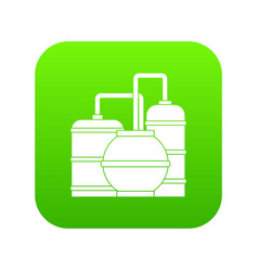 gas storage tanks icon digital green vector image