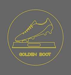 Golden Boot Soccer Reward vector