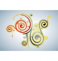 graphic painting vector image