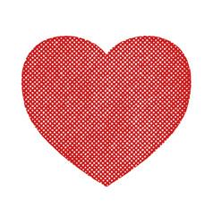 halftone textured heart vector image
