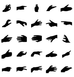 Hands silhouettes set vector