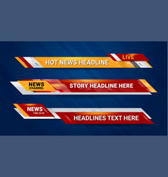 Hot news bar vector