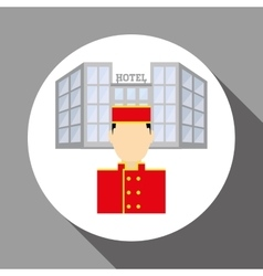 Hotel design service icon travel concept vector image