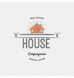 House real estate insignia and labels for any use vector image