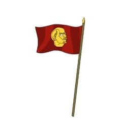 Humor red scarlet banner with leader lenin vector