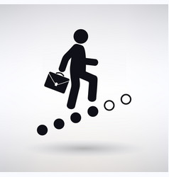 icon career ladder vector image