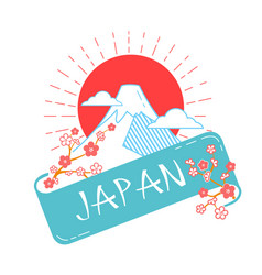 Icon japan day vector