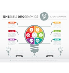 Infographics Business concept with six options vector