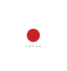 Japan flag in red color design vector