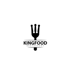 King food logo design icon vector