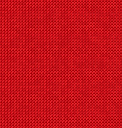 Knitted red background vector image