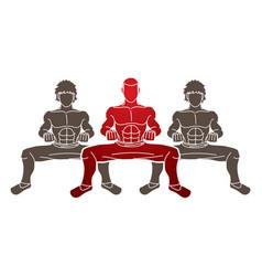 kung fu fighter martial arts action cartoon vector image