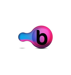 letter b logo designs inspiration isolated on vector image
