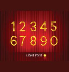 Light font4 vector