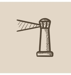 Lighthouse sketch icon vector
