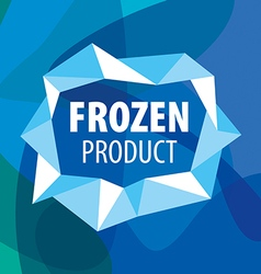 Logo for frozen foods in the form of crystals vector