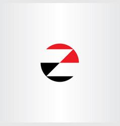Logo z red black icon letter logotype vector