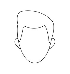 man face character contour image vector image