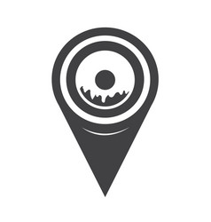 map pointer donut icon vector image