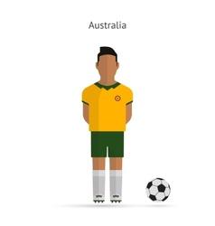 National football player Australia soccer team vector