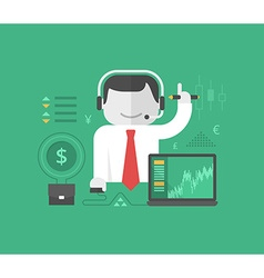 Online Trading and Investing vector