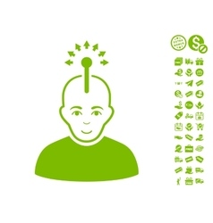 Optical Neural Interface Icon With Free Bonus vector