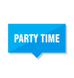party time price tag vector image