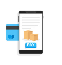 payments via credit card vector image