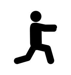 person stretching pictogram icon vector image