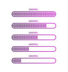 Progress load bar icons status download vector