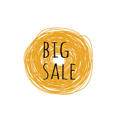 promotion grunge badge with big sale sign on vector image