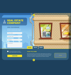real estate landing find your apartment or vector image