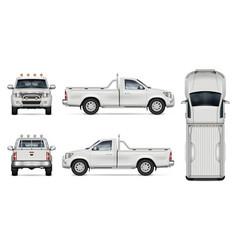 Realistic pickup truck vector