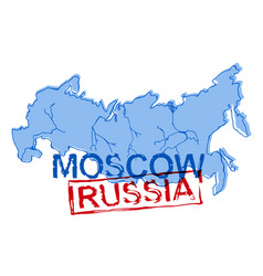Russian map image vector