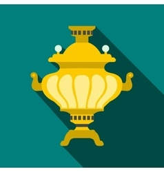 Samovar icon flat style vector image