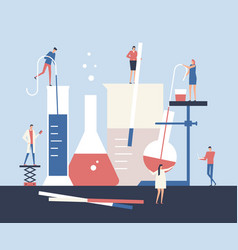 scientists - flat design style vector image