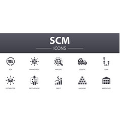 Scm simple concept icons set contains such icons vector