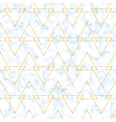 seamless luxury pattern with blue marble vector image