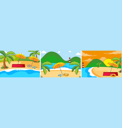 set summer beach background vector image